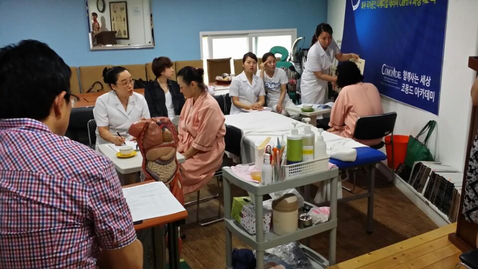 2014. 07. 09  Certi4과정 호주 본교 교장선생님께 테스트 받는 모습